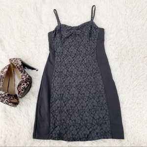 AMERICAN EAGLE Gray Lace Bodycon Bustier Dress